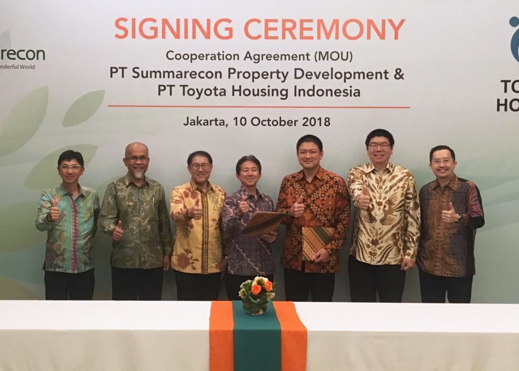 Penandatanganan MoU Summarecon Dengan PT Toyota Housing Indonesia