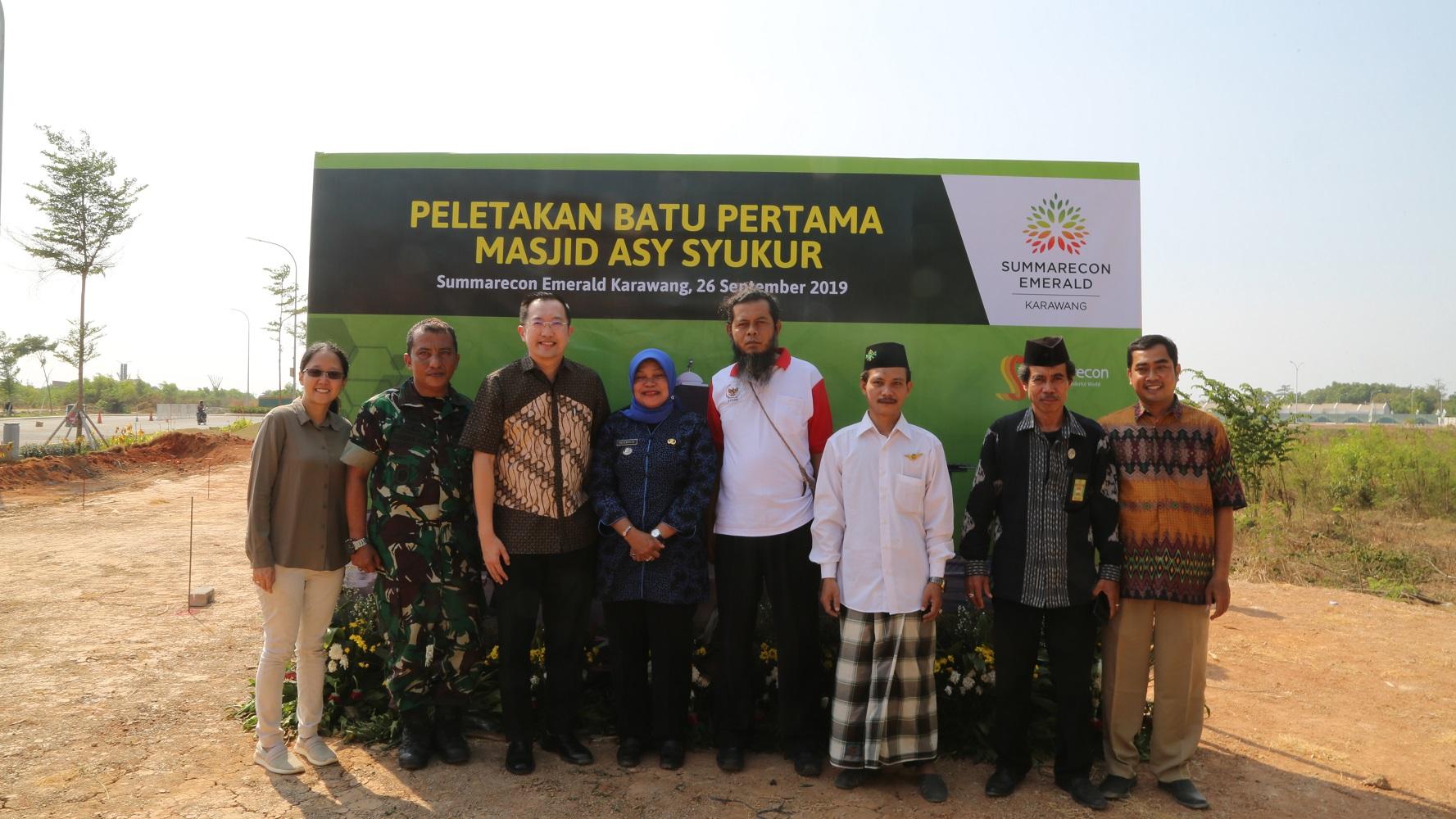 Peletakan Batu Pertama Masjid Asy Syukur, Summarecon Emerald Karawang